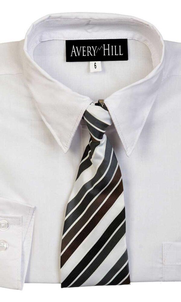 3948e023 Avery Hill Boys Long Sleeve Dress Shirt with Windsor Tie