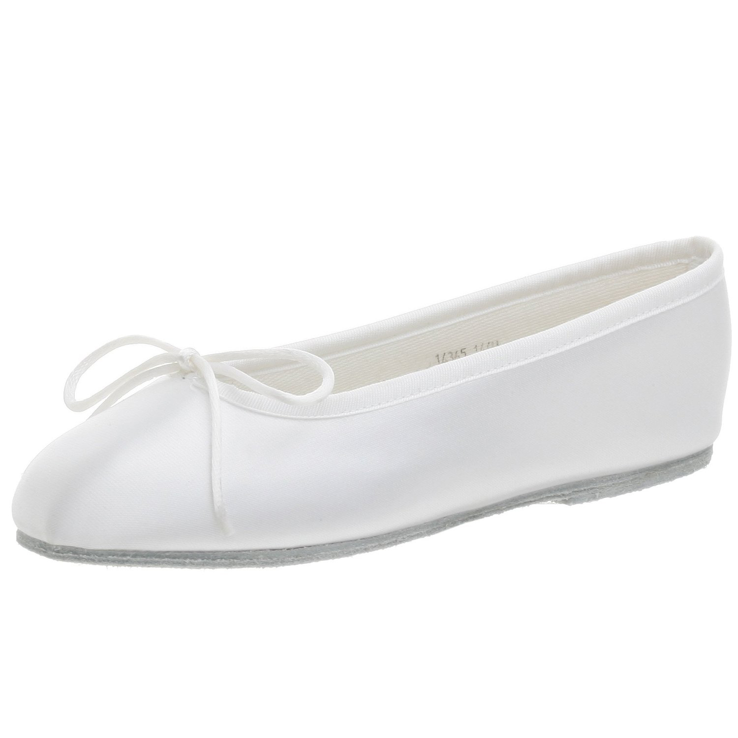 Dempsey Marie Baby & Girl's Satin Dyeable Ballet Flats with Cinch Tie Chord