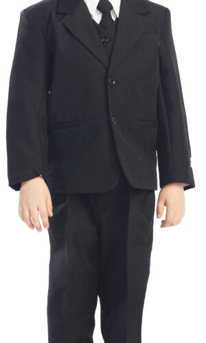 Avery Hill 5-Piece Boy's 2-Button Dress Suit - 6 Colors: Black White Ivory Gray