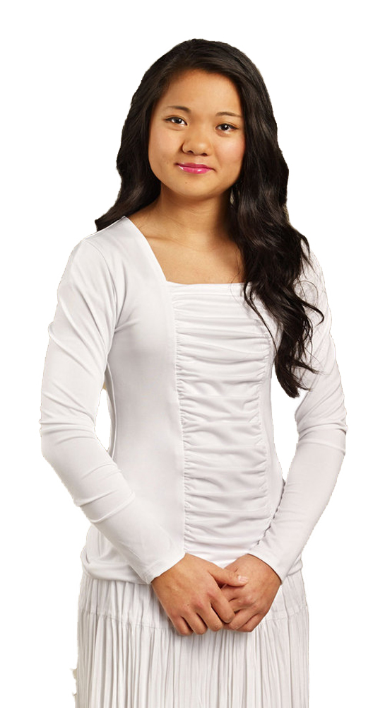Dempsey Marie Long Sleeve Knit Ruched Top