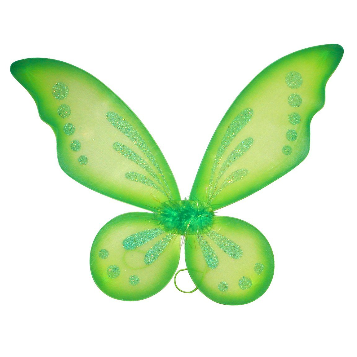 Green Sparkling Glitter Fairy Pixie Tinkerbell Style Wings