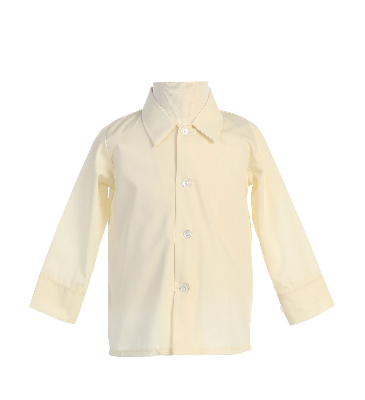 Boys Long Sleeved Simple Dress Shirt - Available in White or Ivory
