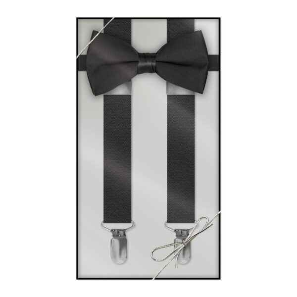 Boys and Mens Suspender & Bow Tie Gift Box Set - Available in 20+ Colors