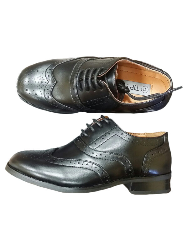 Avery Hill Boys Lace-Up Formal Oxford Style Special Occasion Dress Shoes - Black BigKid 4