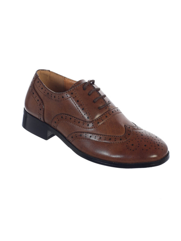 Avery Hill Boys Lace-Up Formal Oxford Style Special Occasion Dress Shoes