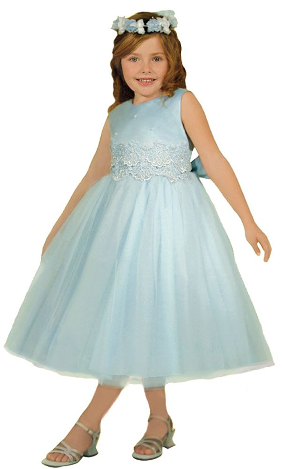 KID Collection Girls\' Cinderella Tulle Flower Girl Dress ...