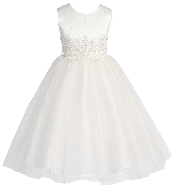 649dff0d6d9 KID Collection Girls  Cinderella Tulle Flower Girl Dress ...