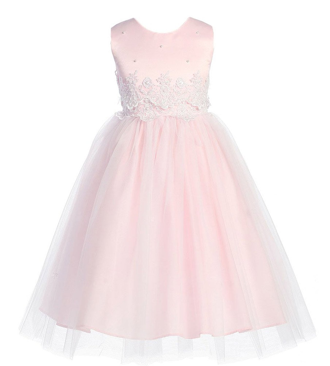 Kid Collection Girls Cinderella Tulle Flower Girl Dress